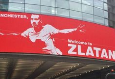 Manchester City trolled with 'Welcome to Zlatan' banner in city centre