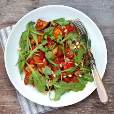 Sun-dried Tomato, Aubergine & Pine Nut Pasta - DeliciouslyElla