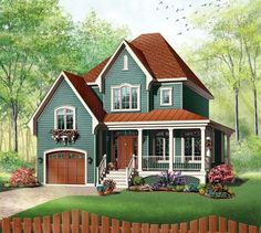 Victorian Style House Plan Number 65411 with 3 Bed, 2 Bath, 1 Car Garage Elevation of Country Farmhouse Victorian House Plan 65411 Victorian House Plans, Victorian Farmhouse, Victorian Homes, Modern Victorian, Victorian Design, Victorian Era, Farmhouse Plans, Farmhouse Design, Country Farmhouse