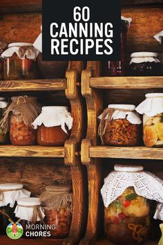 Apples for Chelsea, Pickles for Chaffy and applesauce for Laurel! 60 Canning Recipes - Preserve your food and garden harvest with the most popular recipes on the net. Canning Food Preservation, Preserving Food, Chutney, Cocina Natural, Canned Food Storage, Canning Tips, Pressure Canning Recipes, Home Canning Recipes, Jam Recipes