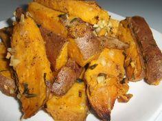 Sweet Potatoes Roasted With Garlic And Rosemary Recipe - Food.com: Food.com