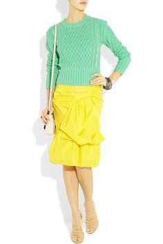 Marc Jacobs Draped silk-blend faille skirt - 59% Off Now at THE OUTNET