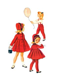 This reminds me of I Love Lucy Vintage 1950s McCalls 2307 Toddler Girls by pinkpolkadotbutton, $14.00