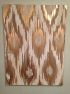 Gold Ikat Painting by 1921 on Etsy