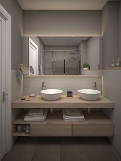 Modern, small and rustic bathroom furniture- Modern, small and rustic bathroom furniture – Moda en Pasarela - Modern Bathroom Decor, Bathroom Interior Design, Bathroom Furniture, Small Bathroom, Master Bathroom, Furniture Legs, Barbie Furniture, Garden Furniture, Furniture Design