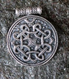 Haithabu amulet silver, This Viking jewel is made after a 9th century original found in Haithabu. This amulet is granulated just like the original. It is completely handmade of silver and measures 3,2 x 2,6 cm. http://www.celticwebmerchant.eu/a-28315467/viking-jewelry/haithabu-amulet-silver/