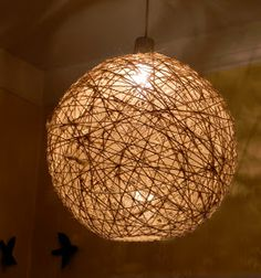 I think I've kept you guessing long enough so here's the reveal on my big ball of twine.  As some of you already guessed it's a light fixtur...