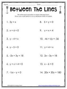 Equations PreAlgebra Worksheet PreAlgebra Worksheets