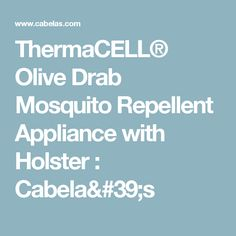 ThermaCELL® Olive Drab Mosquito Repellent Appliance with Holster : Cabela's