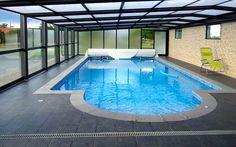 Abri adossé pour piscine posé à Saint-Gaudens. #abri #piscine #adosse #telescopique