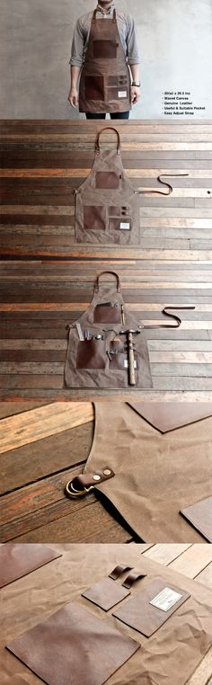 Avental de couro / TRVR    For the Mister. Leather tool apron. (site is Korean; maybe a DIY project?)