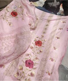 New Embroidery Ideas Indian Suits Ideas Embroidery Suits Punjabi, Embroidery Suits Design, Embroidery Works, Embroidery Fashion, Embroidery Ideas, Designer Punjabi Suits Patiala, Women Salwar Suit, Indian Designer Suits, Indian Suits