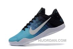 87838427db19 2016 Nike Kobe 11 XI Elite Low Mens Basketball Shoes Sky Blue Black White  Sneakers Online Cheap Free Shipping PaEbF
