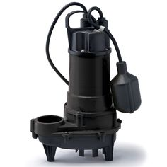 REF50W ECO-FLO Products 1/2 HP Submersible Cast Iron Effluent Pump - Wide Angle Switch