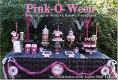 Pink-O-Ween Party: Benefiting the Susan G. Komen Foundation on http://pizzazzerie.com