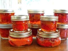 canned roasted peppers in wine