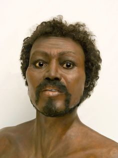 Reconstruction from ancient bones found in the Sahara desert. Forensic Facial Reconstruction, Famous People In History, Human Evolution, Evolution Science, Forensic Anthropology, Portraits, Ancient Mysteries, Making Faces, African History