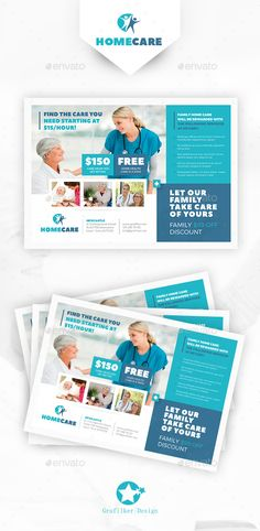 Home Health Care Flyer Template PSD, InDesign INDD. Download here: http://graphicriver.net/item/home-health-care-flyer-templates/16054634?ref=ksioks