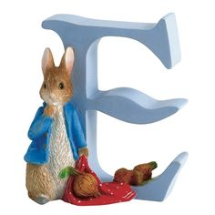 Beatrix Potter Letter E - Peter Rabbit with Onions - Alphabet Letter Figurine A4997 #FineGifts #BeatrixPotterNurseryGiftsFigurines