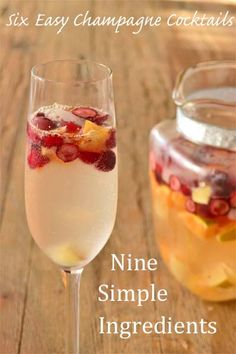 6 Easy Champagne Cocktails, 9 Simple Ingredients: this gives me an idea for a DIY champagne bar