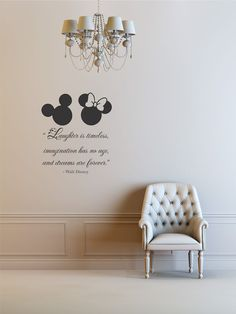 Laughter is timeless, imagination has no age, and dreams are forever. Walt Disney Vinyl Wall Art Decal Sticker. $19.99, via Etsy.
