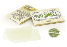 Lemon Paper Soap | Citrus Scented Travel Sheet Soap | You Smell. This is an amazing idea!
