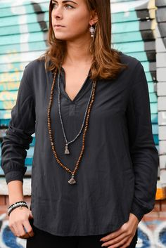 Long labradorite necklace with diamond and tassel sign up for a 10% discount www.vivienfrank.com