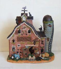 Lemax-Spooky-Town-Halloween-Village-Dilapidated-Barn-55916-NIB-Y481