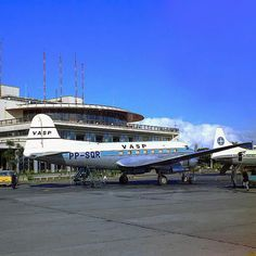 Scandia of Vasp Brazilian Airline in Congonhas airport during the 50th decade.