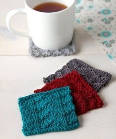 Chevron Coasters in Idiot's Guide Knitting | DiyReal.com
