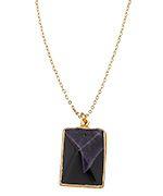 Charlene K Purple and Black Agate Pendant Necklace