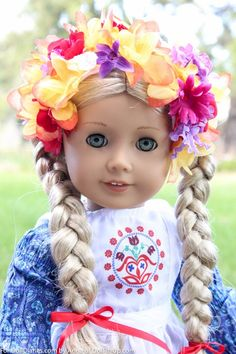 Traditional flower crowns for dolls.  Beautiful for spring and lovely for historical doll play!