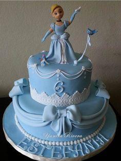 Pretty Cinderella Cake Cake Craft World Tutorials Pinterest