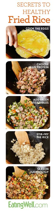 4 Cycle Fat Loss - The only recipe you need for perfect easy, fast and healthy fried rice every time. - Discover the World's First & Only Carb Cycling Diet That INSTANTLY Flips ON Your Body's Fat-Burning Switch Healthy Cooking, Healthy Snacks, Healthy Eating, Healthy Recipes, Asian Recipes, Real Food Recipes, Cooking Recipes, Easy Meal Prep, Easy Meals