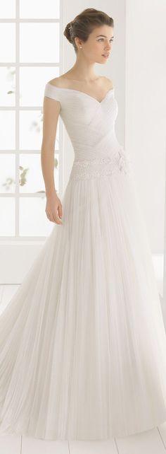 Robe de mariée marquée à la taille J'adore