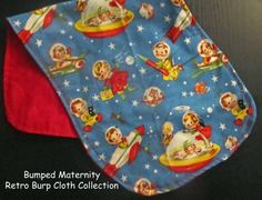 FREE SHIPPINGCotton Burp ClothRetro RascalsReady to by BBumped, $7.95