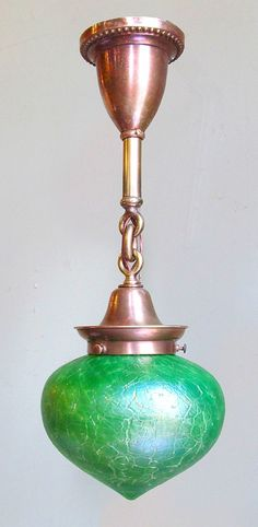 Antique art glass lighting by Loetz is a great way to inject some color into any room! You can find it at Materials Unlimited in Ypsilanti, Michigan!