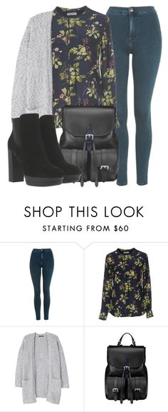 """Outfit #1604"" by lauraandrade98 on Polyvore featuring Topshop, Equipment, MANGO, Aspinal of London and Hogan"