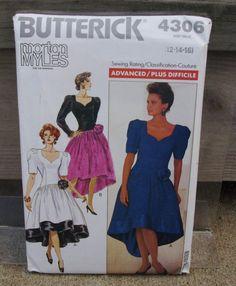 1989 Uncut Butterick Pattern 4306 Misses/ by lovelylovepatterns, $3.00