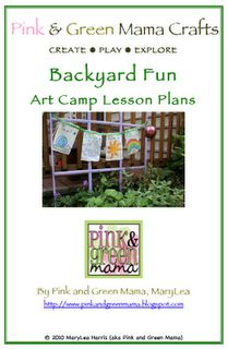 """""""Backyard Fun Art Camp"""" Lesson Plans. 24-Page PDF Booklet  for only $10"""