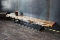 Meuble tv bois massif métal bois style industriel
