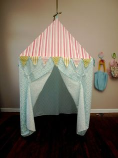 Pink and Teal play tent