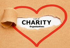 List of Charity Organizations & Types of Charities and their Websites
