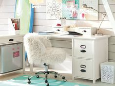 PBK Teen- Desk with file drawers