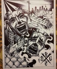 Chicano Drawings, Chicano Tattoos, Chicano Art, Body Art Tattoos, Joker Drawings, Sketch Tattoo Design, Tattoo Sketches, Tattoo Designs, Arte Cholo