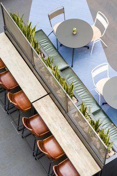 Image 17 of 31 from gallery of Warner Music UK HQ / Woods Bagot. Photograph by Gareth Gardner Restaurant Interior Design, Cafe Interior, Office Interior Design, Office Interiors, Cafe Bar, Commercial Design, Commercial Interiors, Food Court Design, Restaurant Hotel