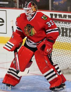 Goalie Scott Darling of the Chicago Blackhawks