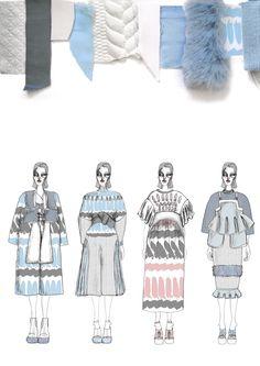 Fashion Sketchbook - fashion illustrations & textile swatches; fashion portfolio // Giryung Kim
