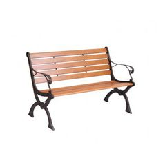 Newgrange 10 Slat Park Bench by Mercer Leisure Cast Iron Garden Bench, Cast Iron Bench, Metal Garden Benches, Garden Furniture, Outdoor Furniture, Outdoor Decor, Rocking Bench, Wrought Iron Bench, Recycle Cans