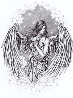 Pencil Drawings of Guardian Angels | ANGEL by ~yazooLovrec on deviantART